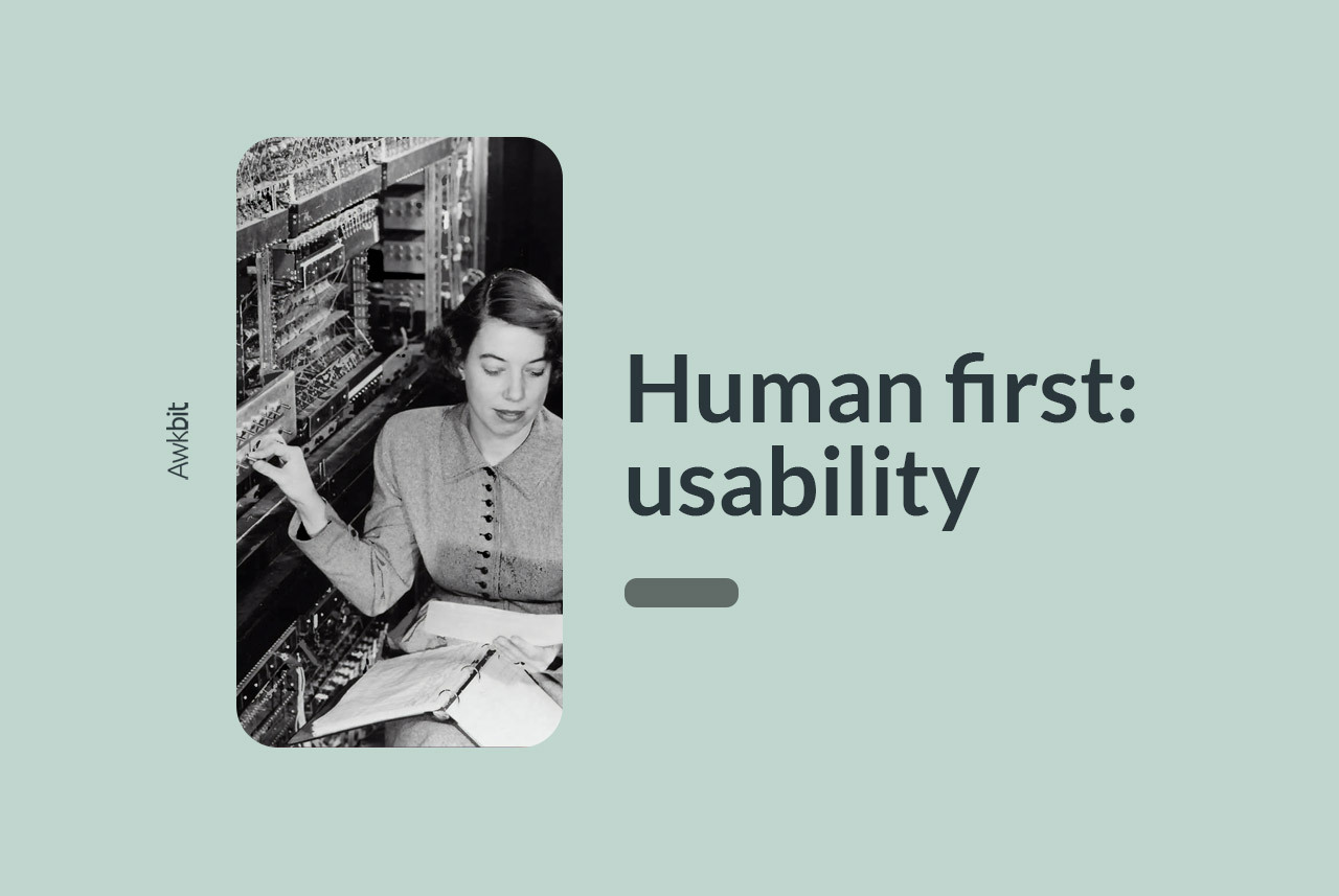 Human first design: goals of usability testing