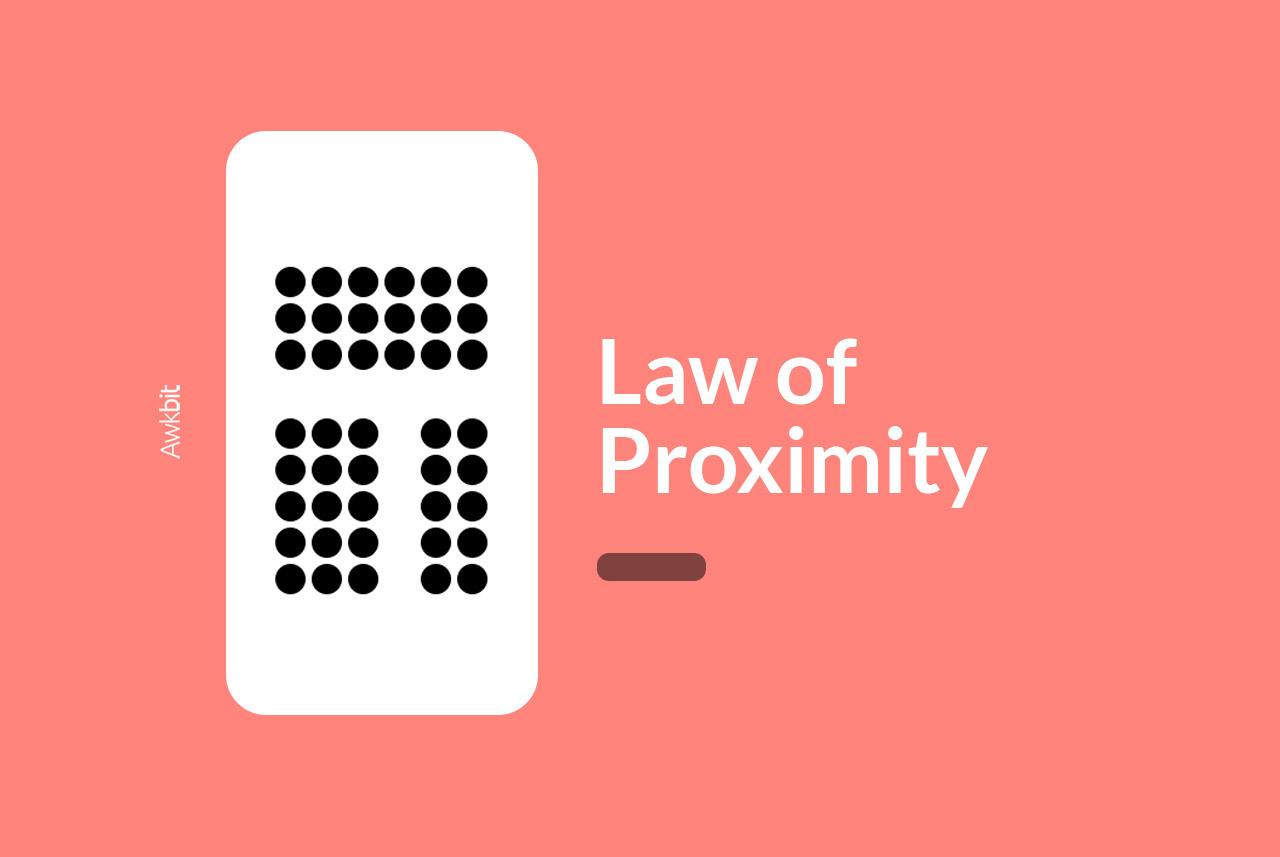 Usability heuristics: Law of Proximity